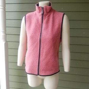 WOOLRICH Pink Boiled WOOL VEST Zip UP Jacket M NEW